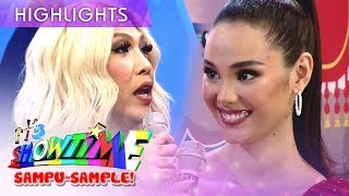 Vice asks Catriona if she copied answers from her classmates before  It39s Showtime Mini Miss U