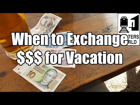When to Exchange Money for Your Trip Abroad