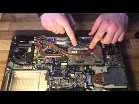 Dell XPS M1710 disassembly disassemble clean fan CPU replace Lüfter reinigen auseinander nehmen