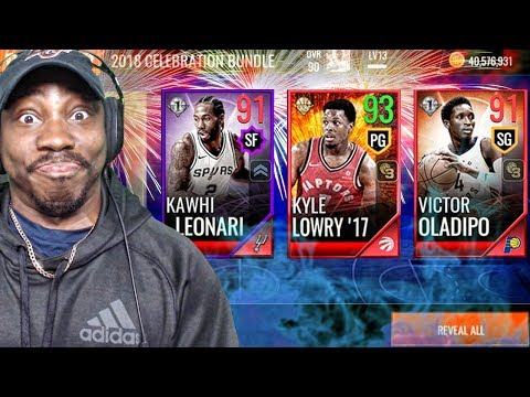 INSANE 2018 NEW YEARS PACK OPENING w/92 OVR LOWRY! NBA Live Mobile 18 Ep. 26
