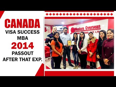 Canada Visa Success - MBA 2014 Pass Out Student