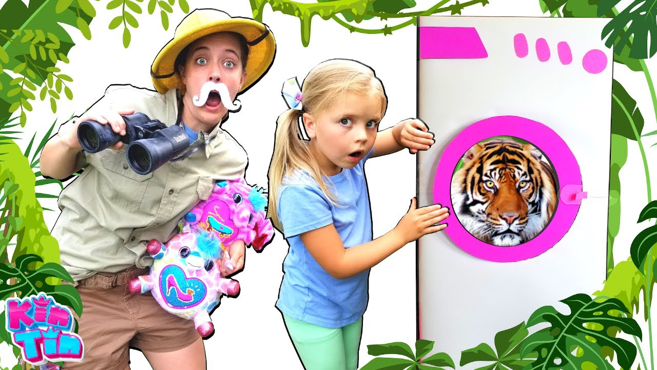 Kin Tin TELEPORTS and Explores ZOO JUNGLE To Find Pet TIGER! | NEW Surprise Toy hunt