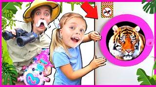 Giant Cats and Jungle ANIMALS Safari! Kin Tin Adventure to find CUTE Animals!