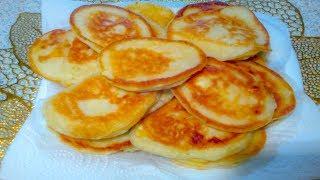 ТВОРОЖНЫЕ ОЛАДЬИ  Быстрый, домашний рецепт На Кефире для завтрака.