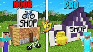 Minecraft Battle: NOOB vs PRO : SUPER CAR SHOP BUILDING Challenge in Minecraft