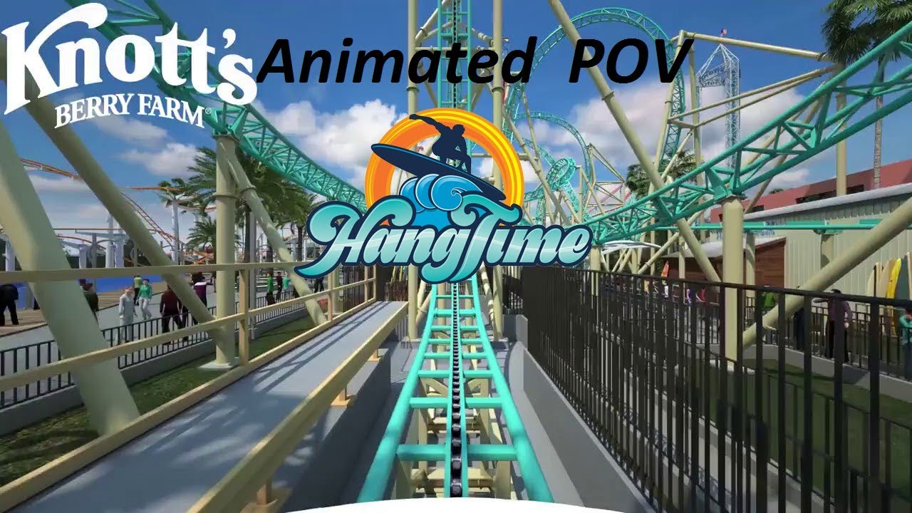 Hang Time New For 2018 at Knott\'s Berry Farm On Ride Animation Pov ...
