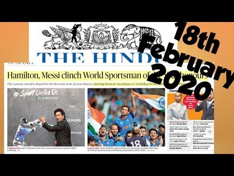 The Hindu Newspaper 18th February 2020