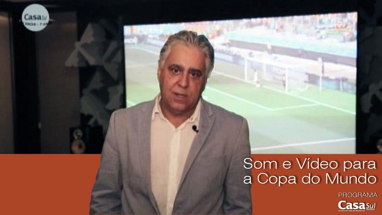 Equipamento de som e vídeo para a Copa do Mundo