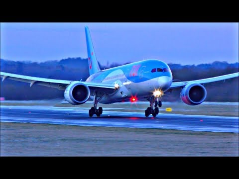 Spectacular Winter Morning Arrivals at Manchester Airport, RWY05R | 28/02/18