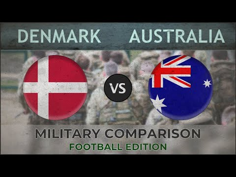 DENMARK vs AUSTRALIA - Army Comparison - 2018 (FOOTBALL EDITION)