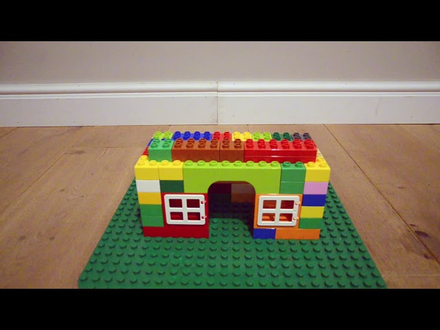 Building Magical and Colourful Lego Duplo Brick House