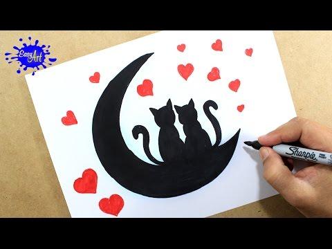Como dibujar tarjeta amor san valentin/ How to draw a love card /Como hacer una tarjeta de amor