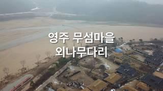 영주 무섬마을 외나무다리(드론+오즈모포켓)