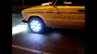 Безпроводная Подсветка дисков на автомобиль ваз 2106 LED Lights в движении
