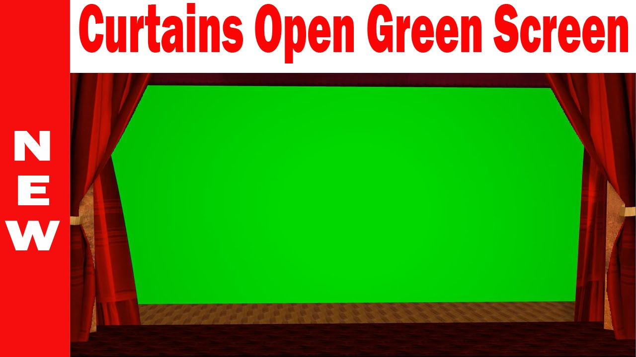 Curtains Open Green Screen | HD Footage