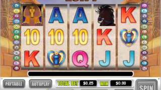 The Last King of Egypt video slot at Online Vegas