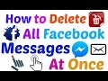 How To Delete All Facebook Messages At Once In Hindi Urdu 2016 mp3