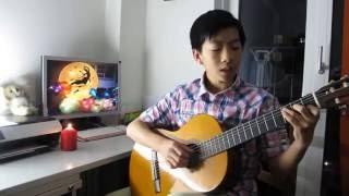 Tuổi của trăng - Trịnh Vĩnh Thành. Guitar by Vincent LUONG 梁有荣 (11岁)