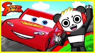 ROBLOX Save Lightning McQueen Cars 3 Roblox Obby Let's Play with Combo Panda