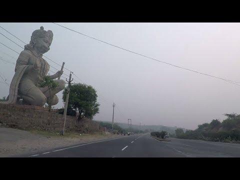 Driving on Gurgaon-Faridabad Road - Haryana, India