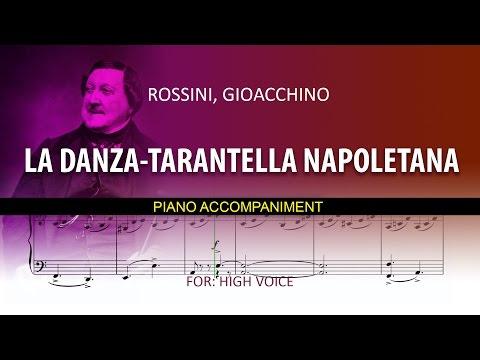 La Danza - TARANTELLA NAPOLETANA / Karaoke piano / Rossini, Gioachino / High voice