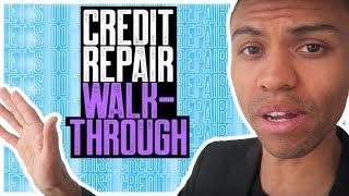 CREDIT REPAIR WALK-THROUGH || REMOVE COLLECTIONS NEGATIVE ACCOUNTS FAST || SECTION 609 CREDIT REPAIR