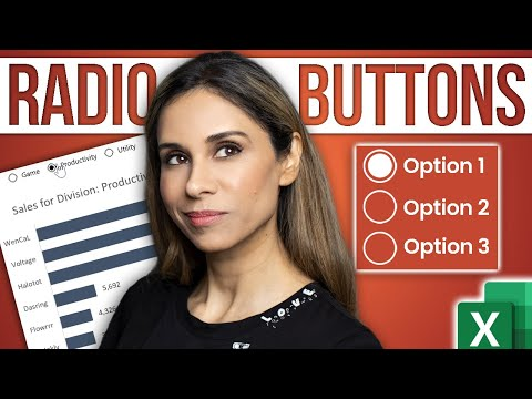 Create INTERACTIVE Excel Dashboards With Option Buttons   How to use Radio Buttons