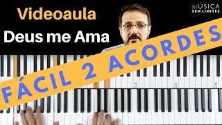 APRENDER TECLADO FACIL - DEUS ME AMA AULA FACIL PARA PRINCIPIANTES - 2 ACORDES