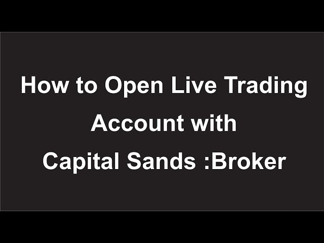 How to Open MT5 Trading Live Account with Capital Sands