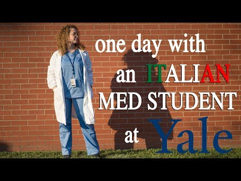One day w/ an Italian med student at YALE