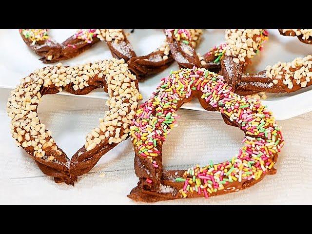 バレンタインチョコ ホットケーキミックスで作るチョコチュロス Baked Chocolate Churros