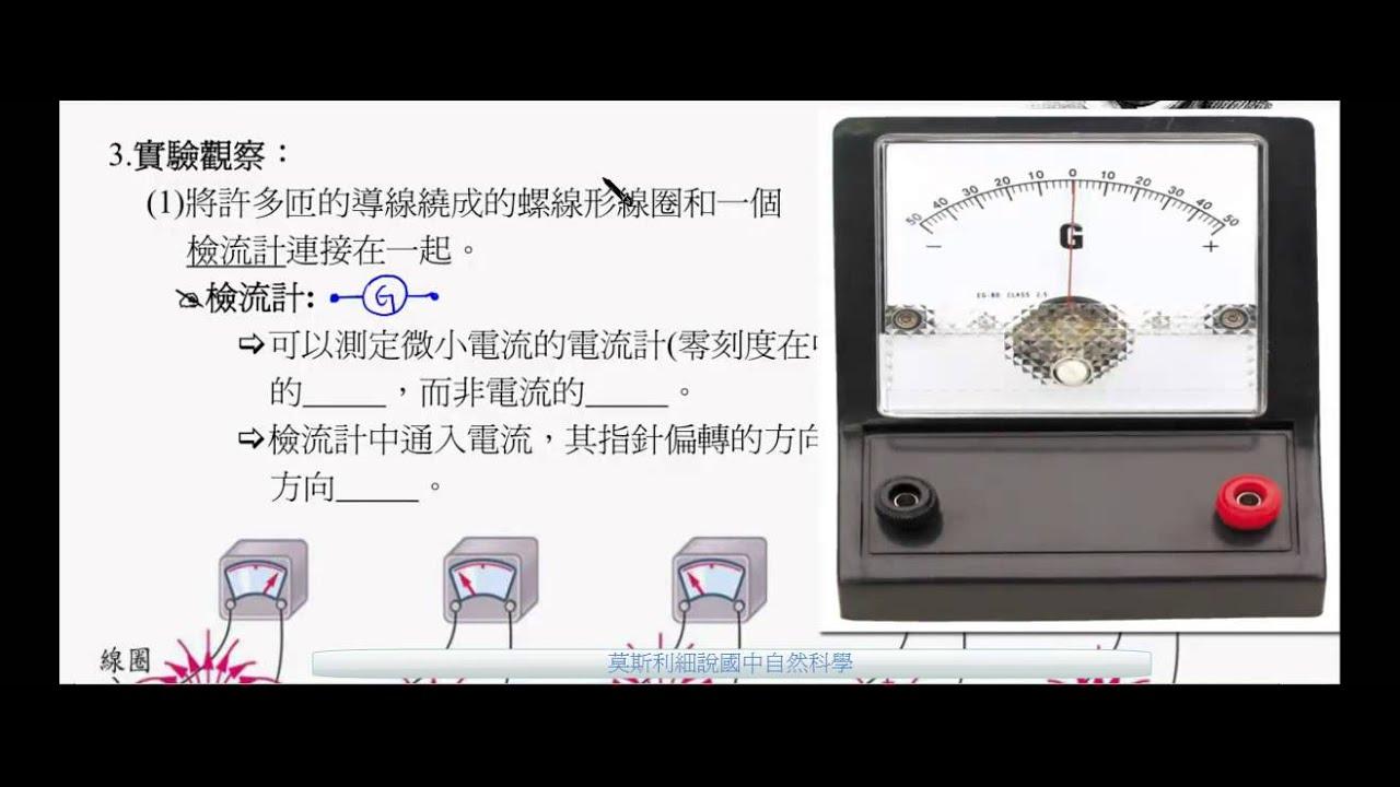 國三理化_電流磁效應_電磁感應實驗觀察與結論_磁生電【國中理化】 - YouTube