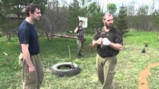 Казачий Вар   упражнения вокруг котла