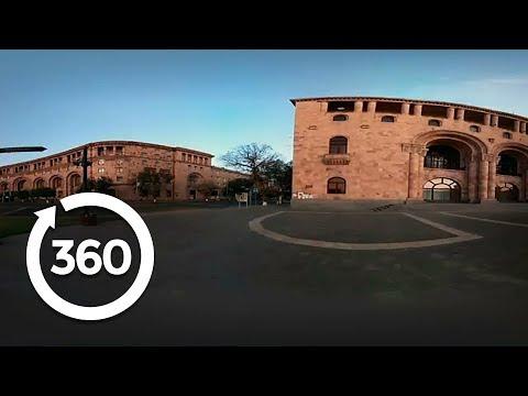Daybreak in Yerevan's Stunning Town Square   Yerevan, Armenia 360 VR Video   Discovery TRVLR