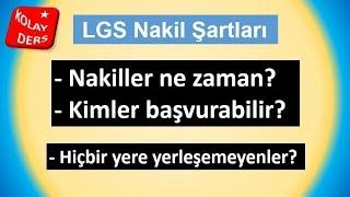 LGS  Nakil şartları nelerdir