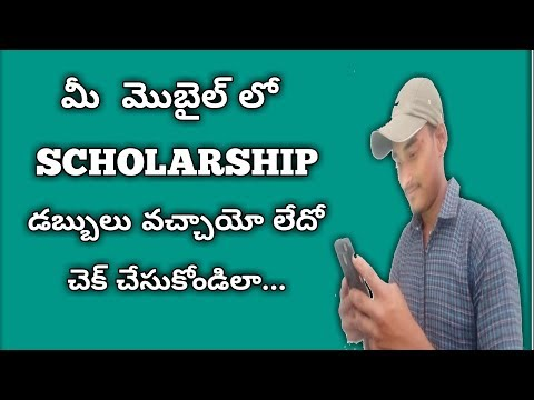 How To Check Scholarships In Mobile || For Students || Telugu ||