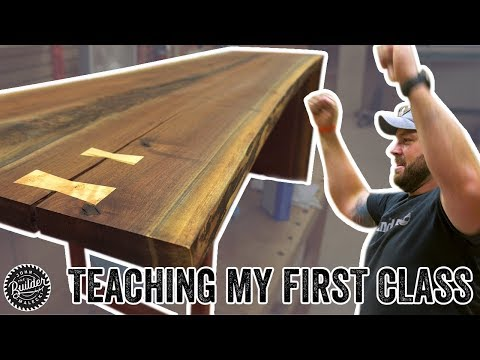 Teaching My First Woodworking Class | Live Edge Waterfall Coffee Tables