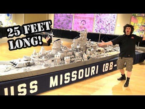 Gigantic LEGO WWII Battleship USS Missouri by Brickmania