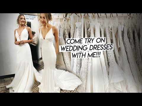 COME WEDDING DRESS SHOPPING WITH ME! Trying On Wedding Dresses!