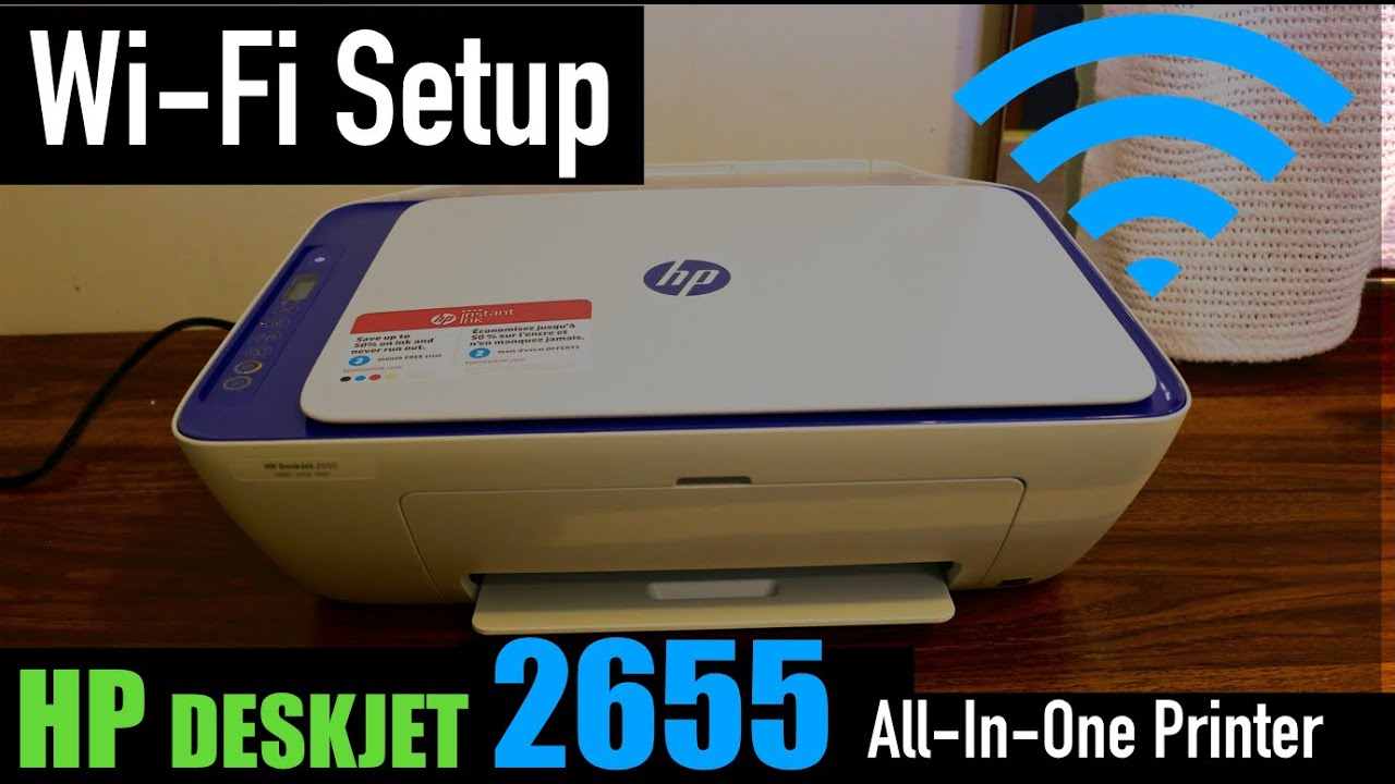 Hp Deskjet 2655 Wi Fi Setup Youtube