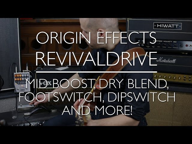 Origin Effects RevivalDRIVE - A Rough Guide - Part 4: utility controls, footswitch & dipswitch
