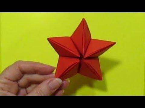 Оригами Звезда из бумаги МК.Поделки бумаги на день победы пятиконечная звезда/ DIY Easy Paper Star