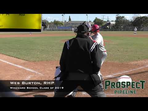 Wes Burton Prospect Video, RHP, Windward School Class of 2019