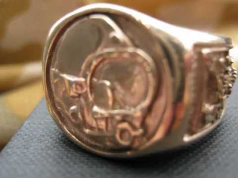 COMMERCIAL DIVERS RING 3signets GOLD SILVER