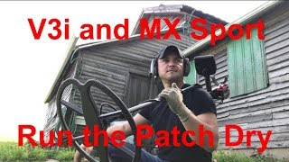 Metal Detecting Whites MX Sport and V3i Run the Patch Dry 1080P