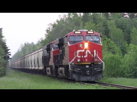 Thumbnail: Heavy CN B730 Potash Train w/Rear DPU's at Boundary Creek, NB (June 13, 2017)