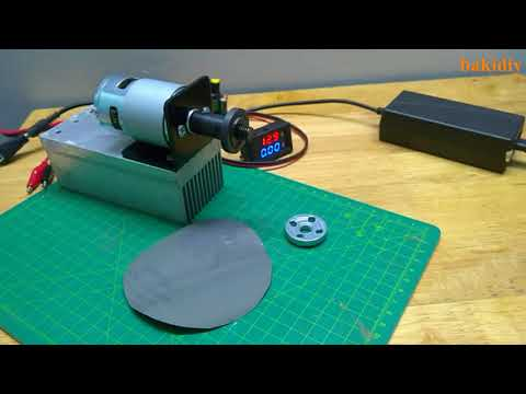 First test RS-775 Motor 150W- Cut PVC pipe by paper