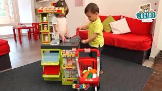 Magazin pentru copii SuperMarket Smoby cu cărucior