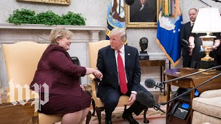 Trump holds press conference with Prime Minister of Norway