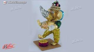 DIY 3D Quilled Dancing Ganesha Sculpture  | Pictures steps | JK Arts 675